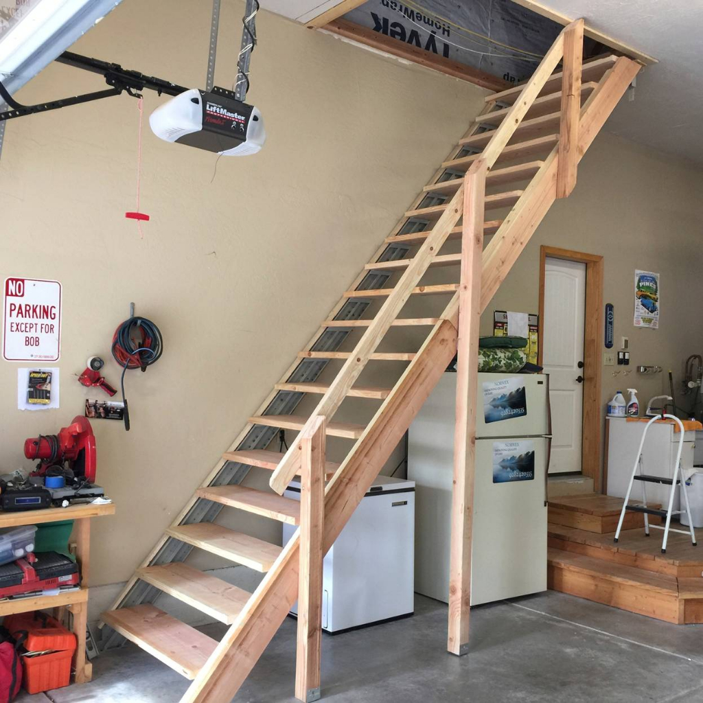 Indoor Stairs Stair Kits For Basement Attic Deck