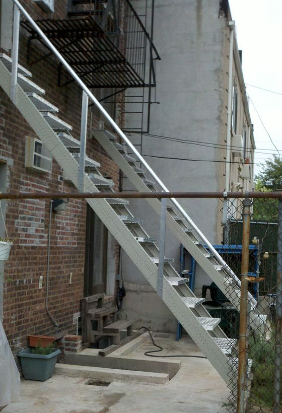 All Steel Outdoor Stair Stringers By Fast Stairs Com
